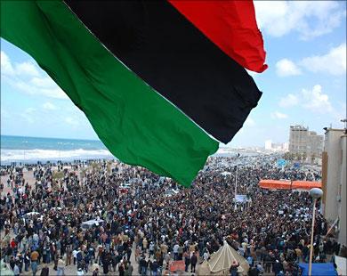 ليبيا تحتفل بذكرى اندلاع الثورة ضد القذافي